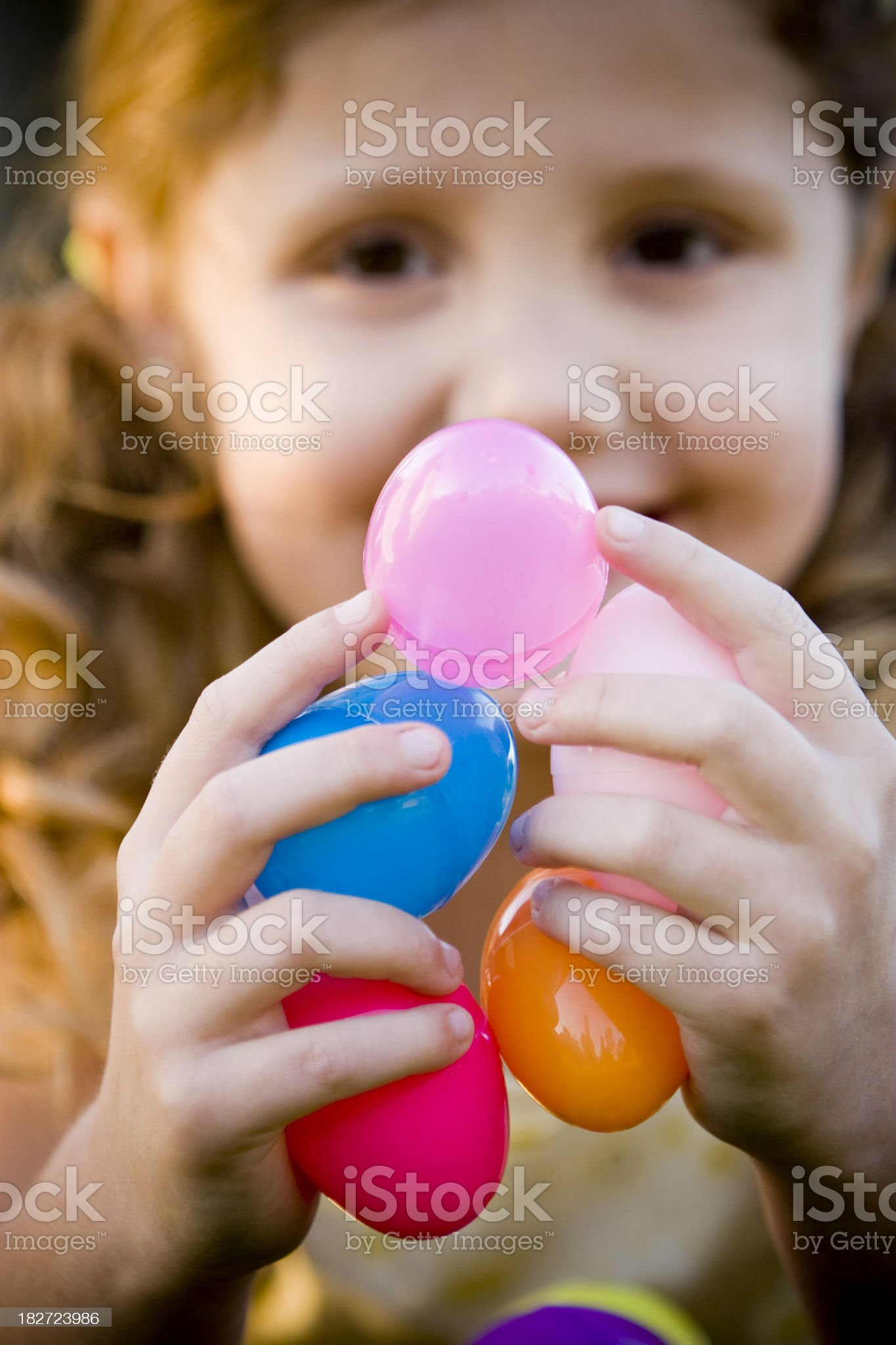 Five Easter Eggs royalty-free stock photo