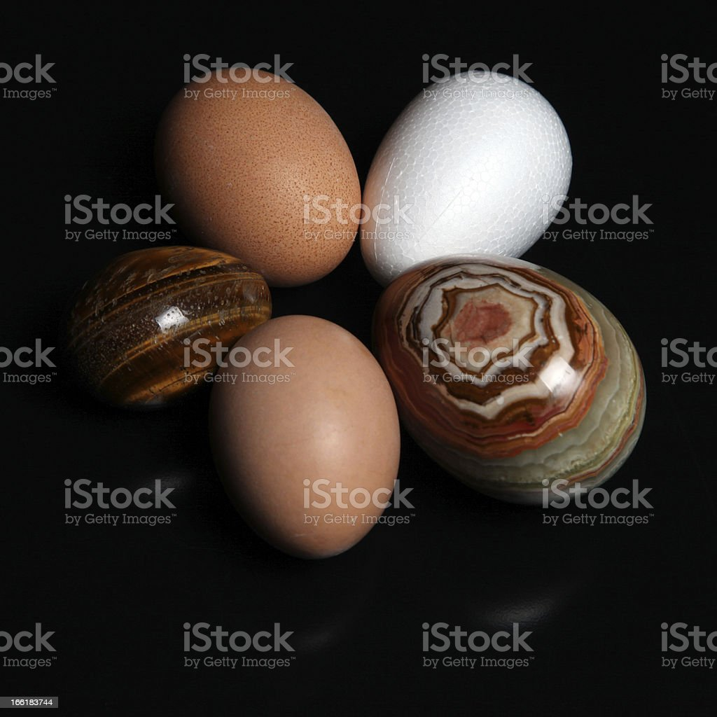 Five eggs royalty-free stock photo