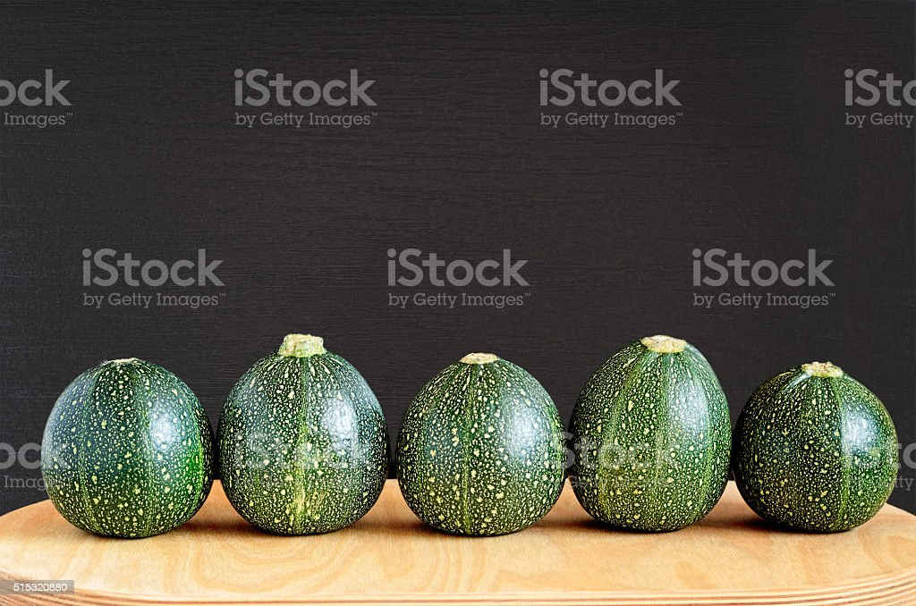 Five Eight Ball Squashes stock photo