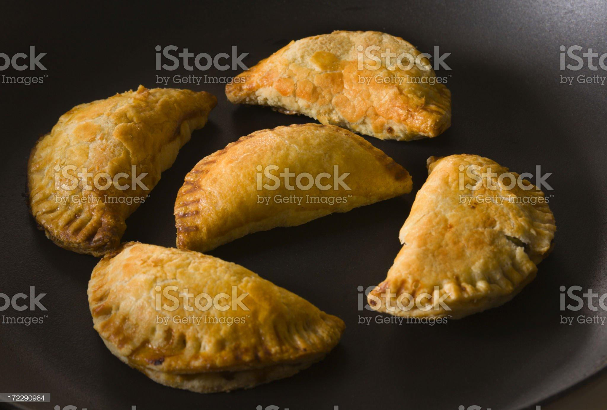 Five Empanadas royalty-free stock photo