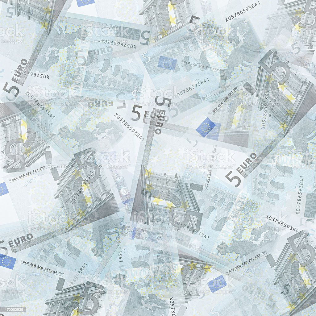 Five euro background stock photo