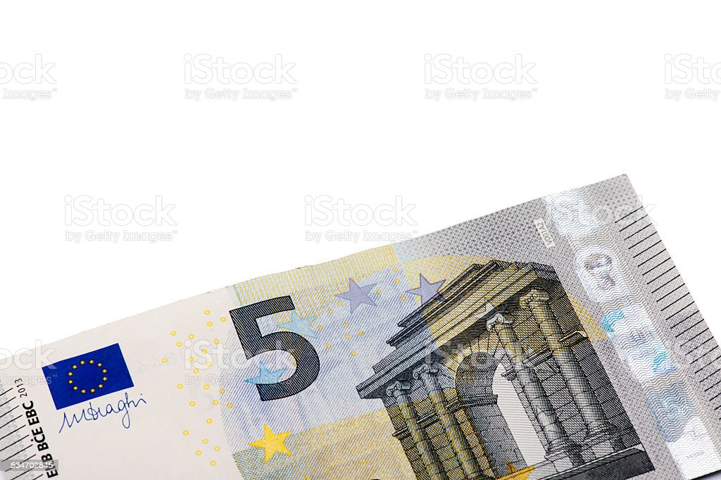 Five Euro Banknote stock photo