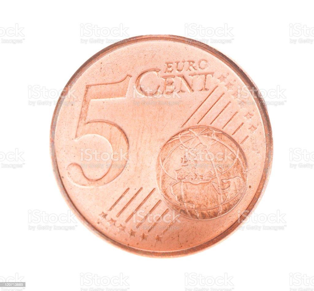 Five euro cent stock photo