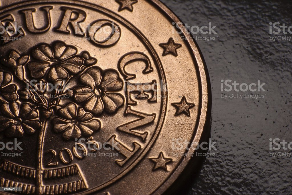 Five Euro Cent stock photo