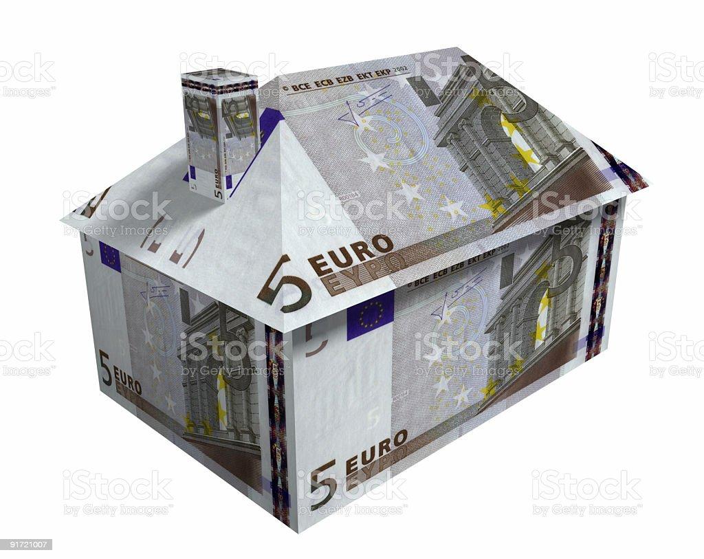 Five Euro House royalty-free stock photo