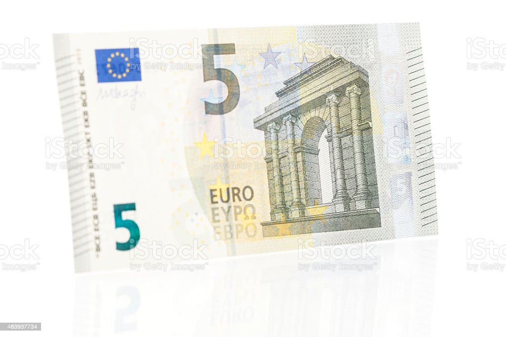 Five Euro Note - Front stock photo