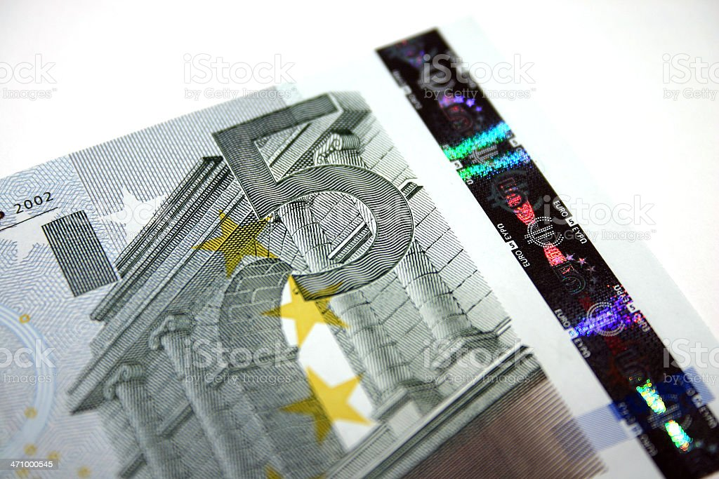 Five euro note. royalty-free stock photo