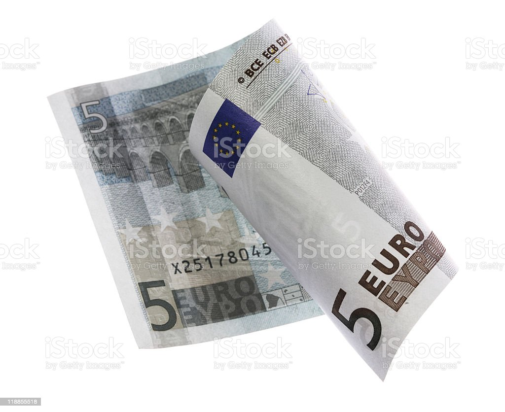 Five euros stock photo
