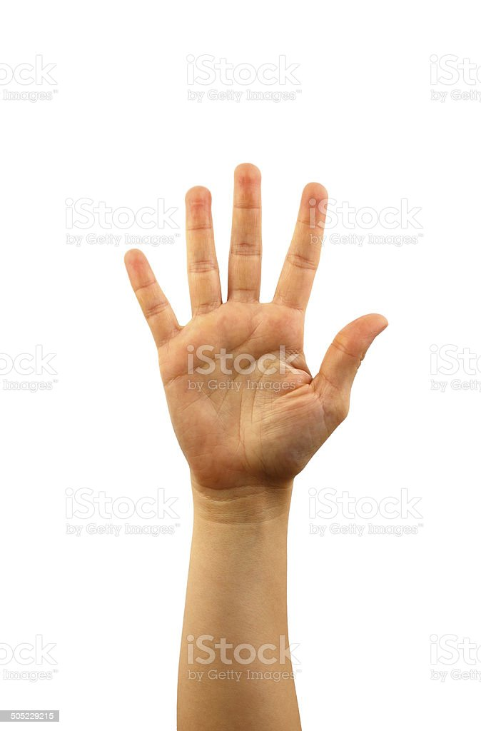 Five finger royalty-free stock photo