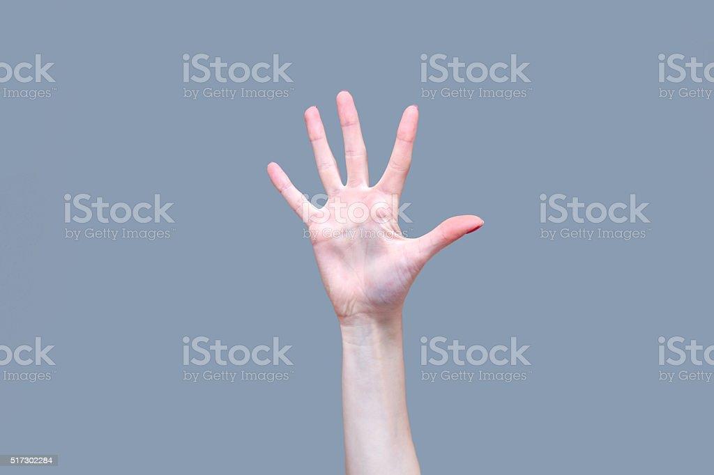 Five Fingers stock photo