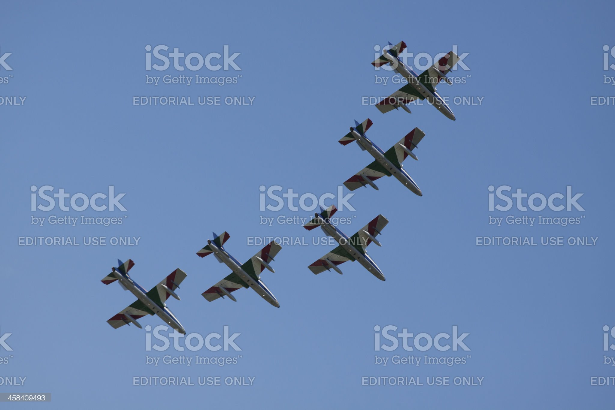 Five france airplanes like air royalty-free stock photo