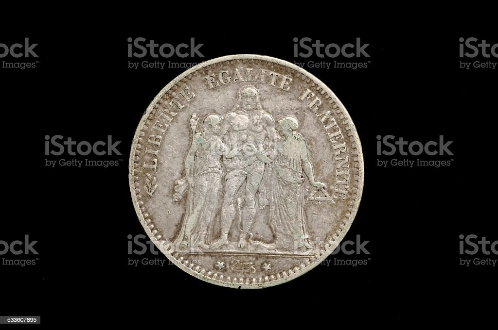 five francs, France stock photo