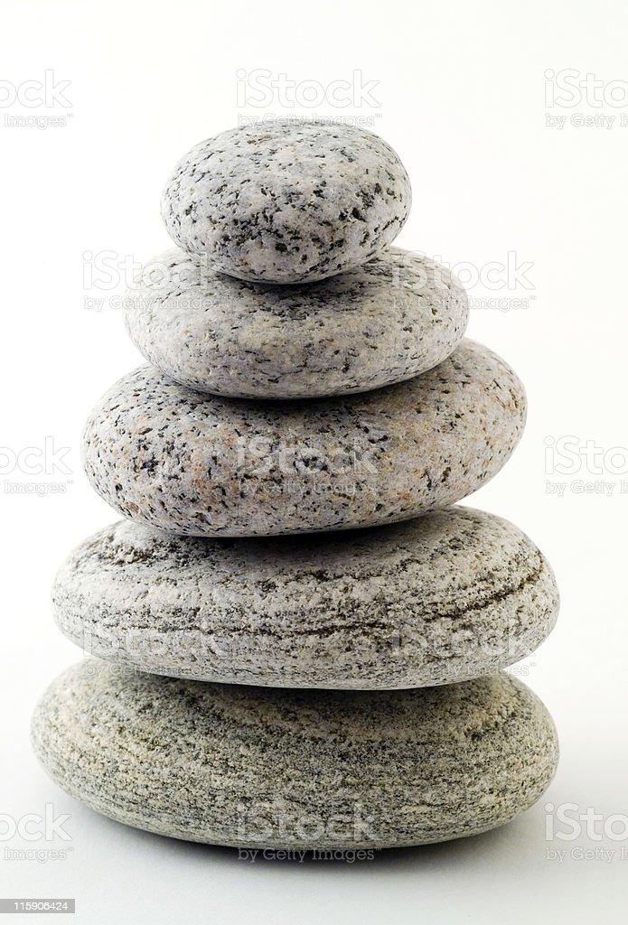 Five granite pebbles royalty-free stock photo