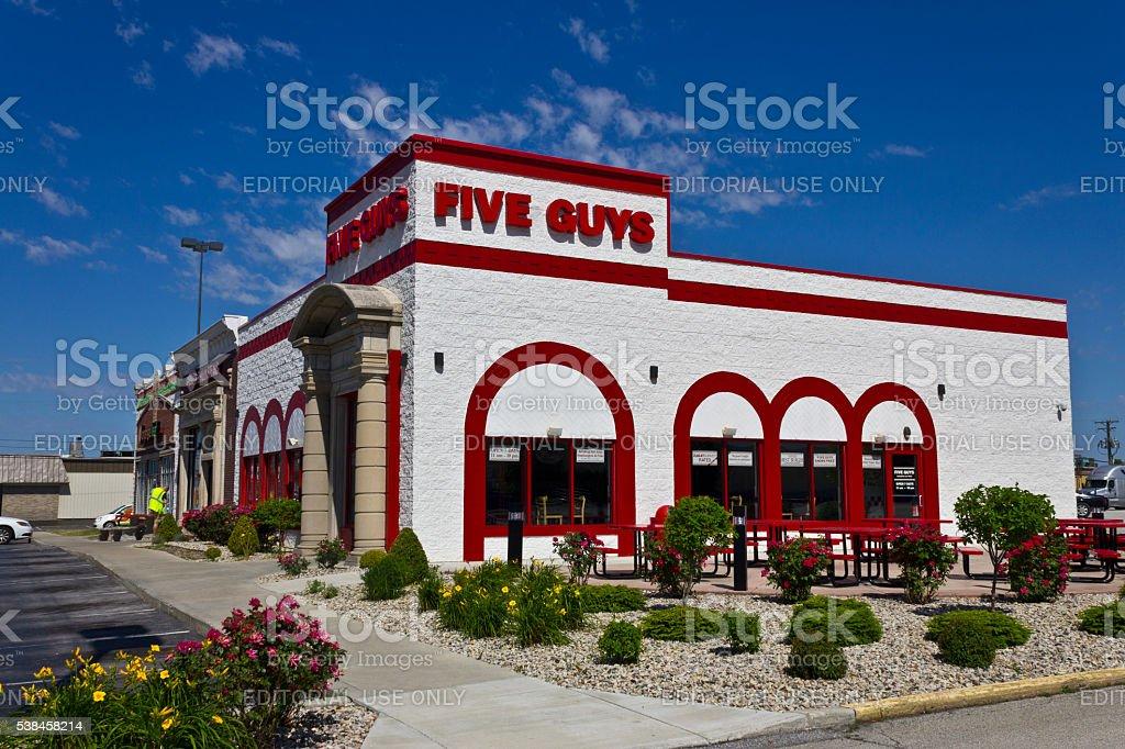 Cinq gars Restaurant III photo libre de droits