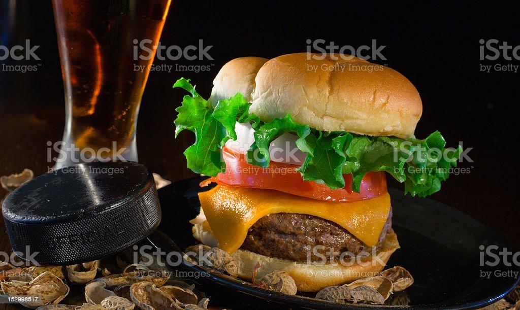 Five Hole Burger royalty-free stock photo