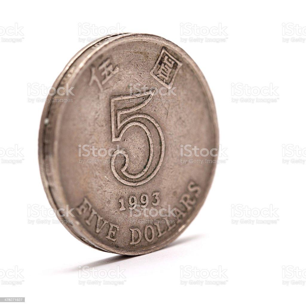 Five Hong Kong dollars royalty-free stock photo