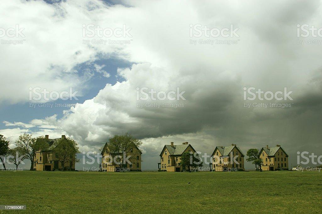 Five Houses stock photo