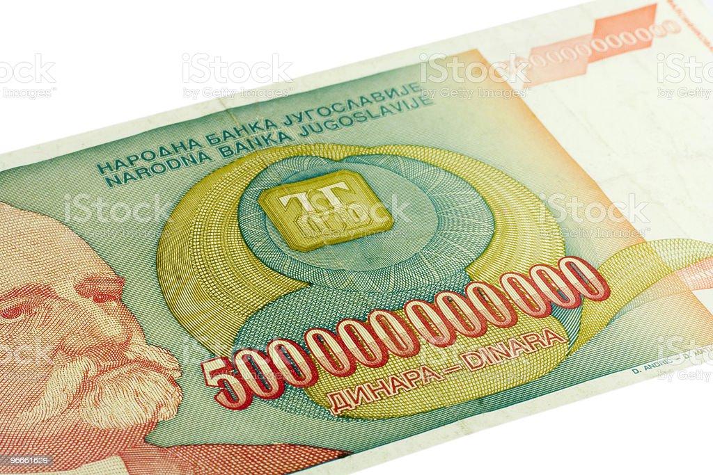 Five Hundred Billion Dinara royalty-free stock photo
