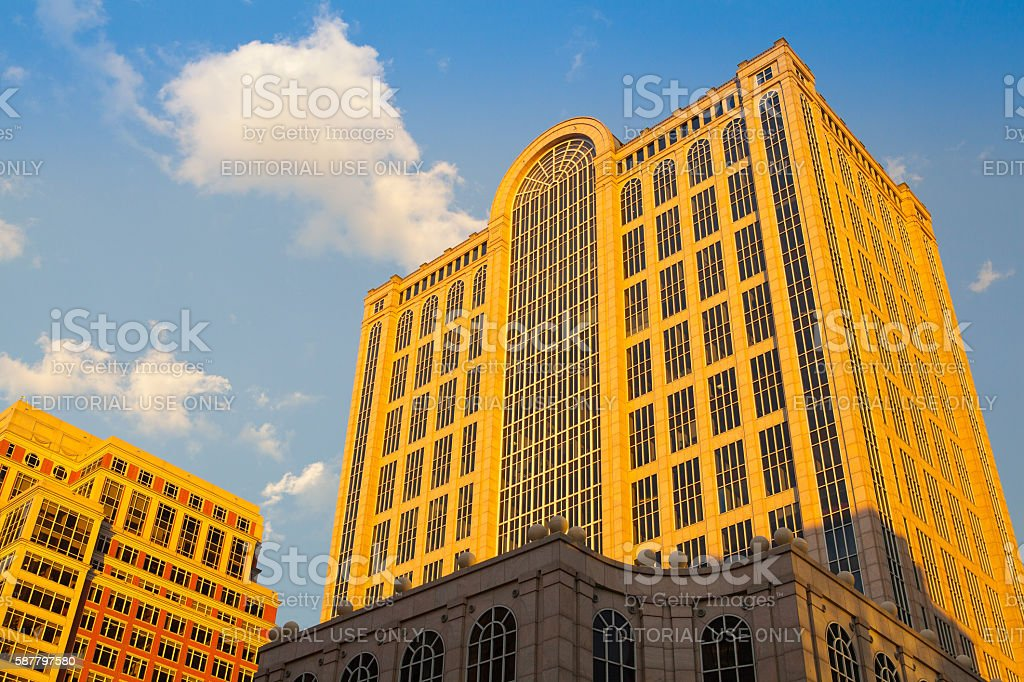 Five Hundred Boylston Building in Boston stock photo