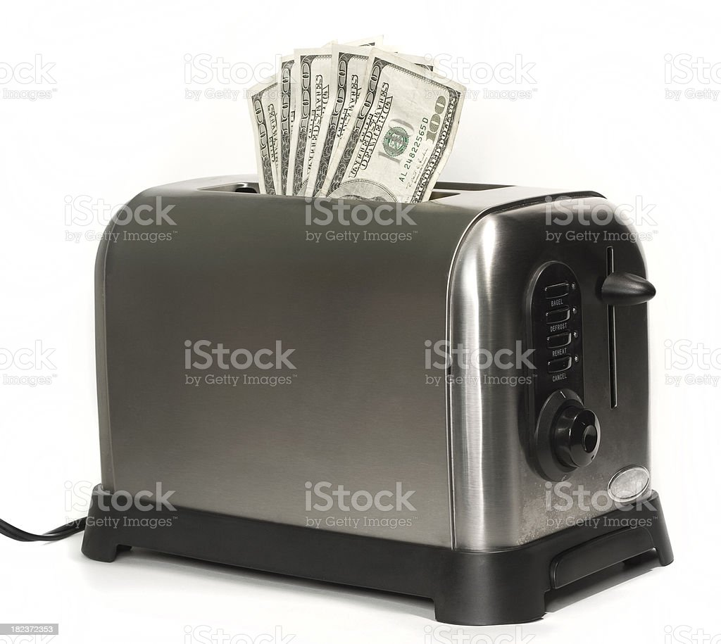Five Hundred Dollar Toast royalty-free stock photo