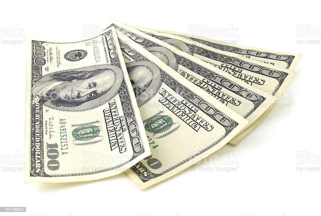 Five Hundred Dollars royalty-free stock photo