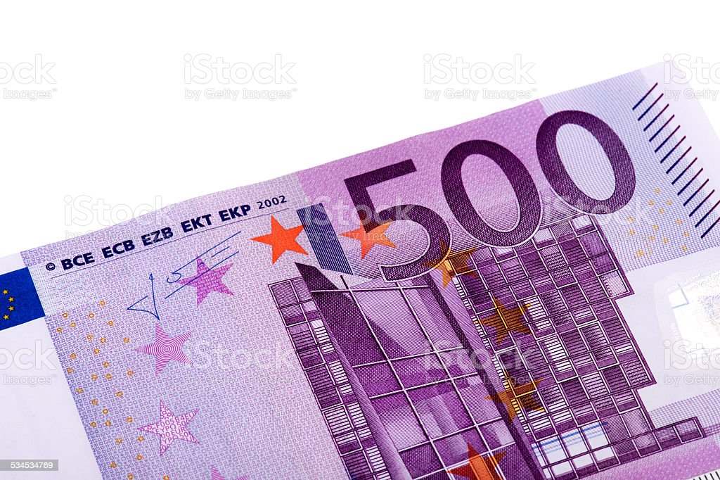 Five Hundred Euro Banknote stock photo