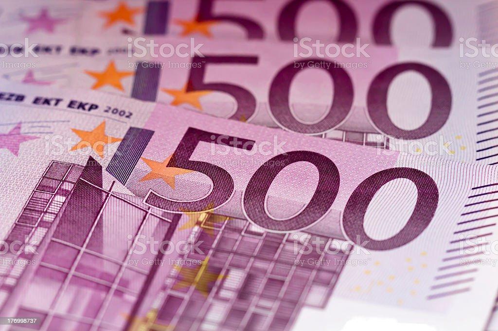 Five hundred euro banknotes money stock photo