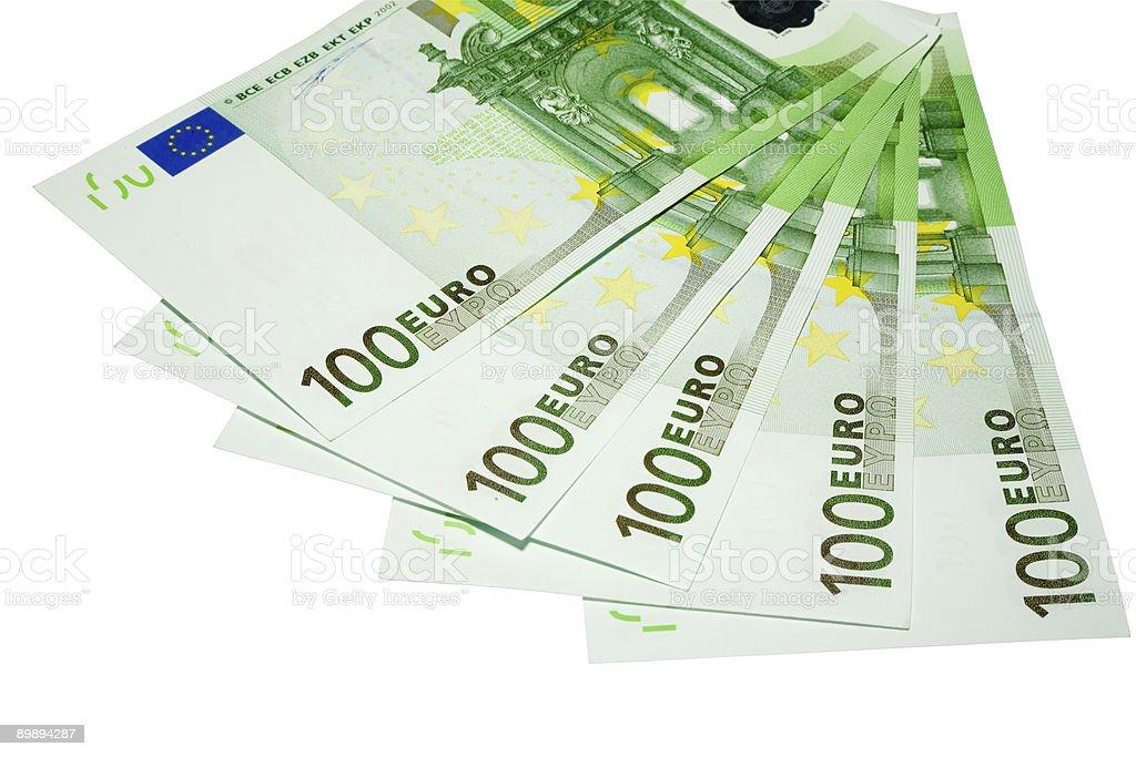 five hundred euro banknotes royalty-free stock photo
