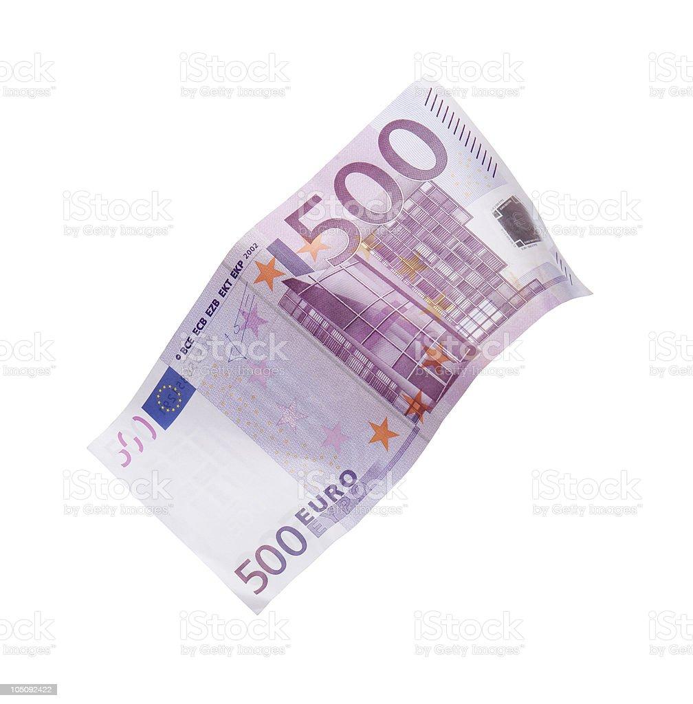 Five hundred euro bill stock photo