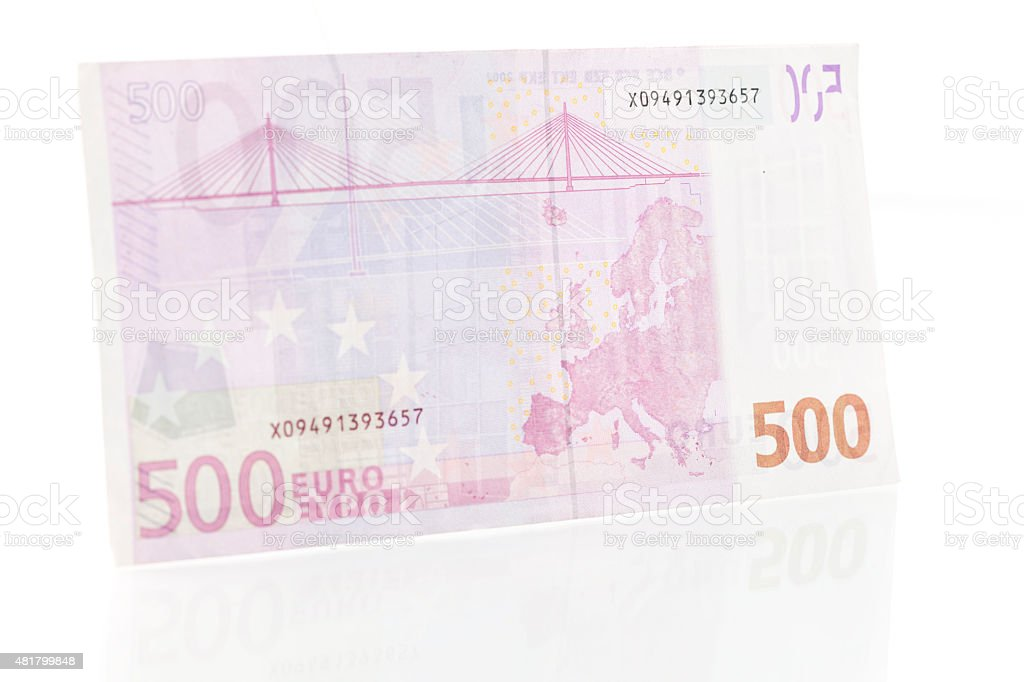 Five Hundred Euro Note - Back stock photo