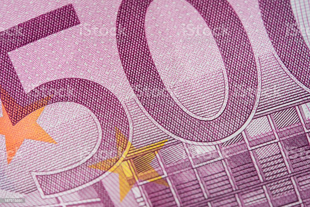 Five hundred euro note macro stock photo