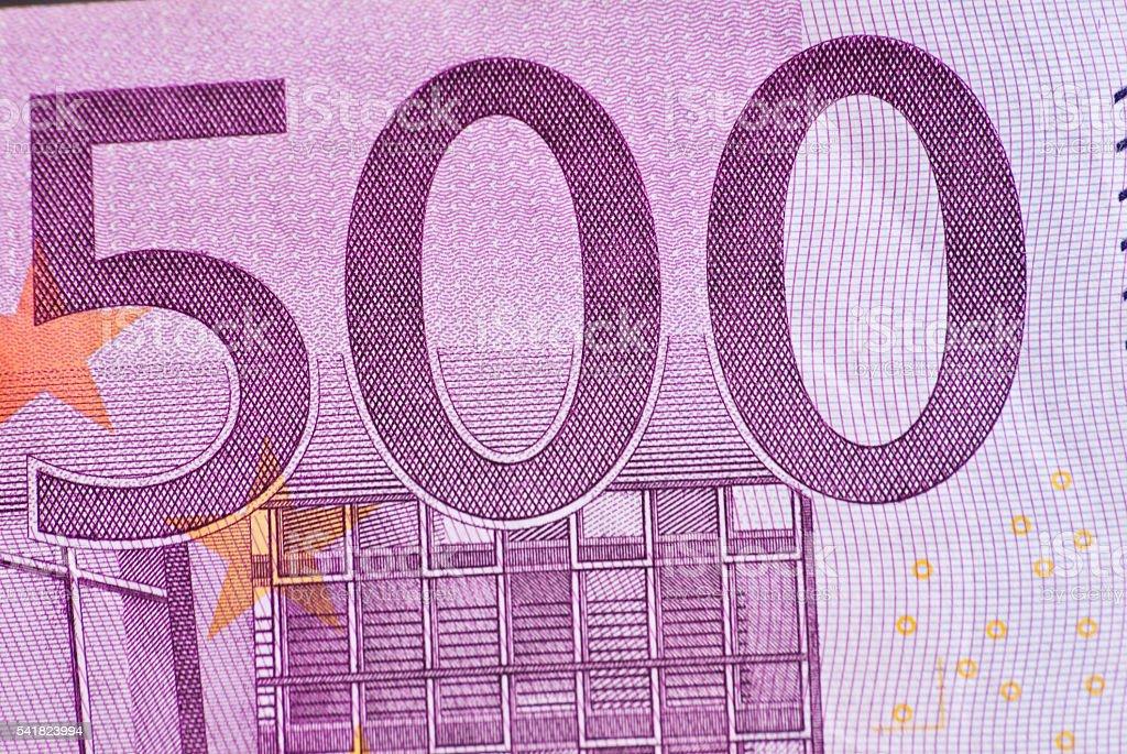 Five Hundred-euro bill stock photo