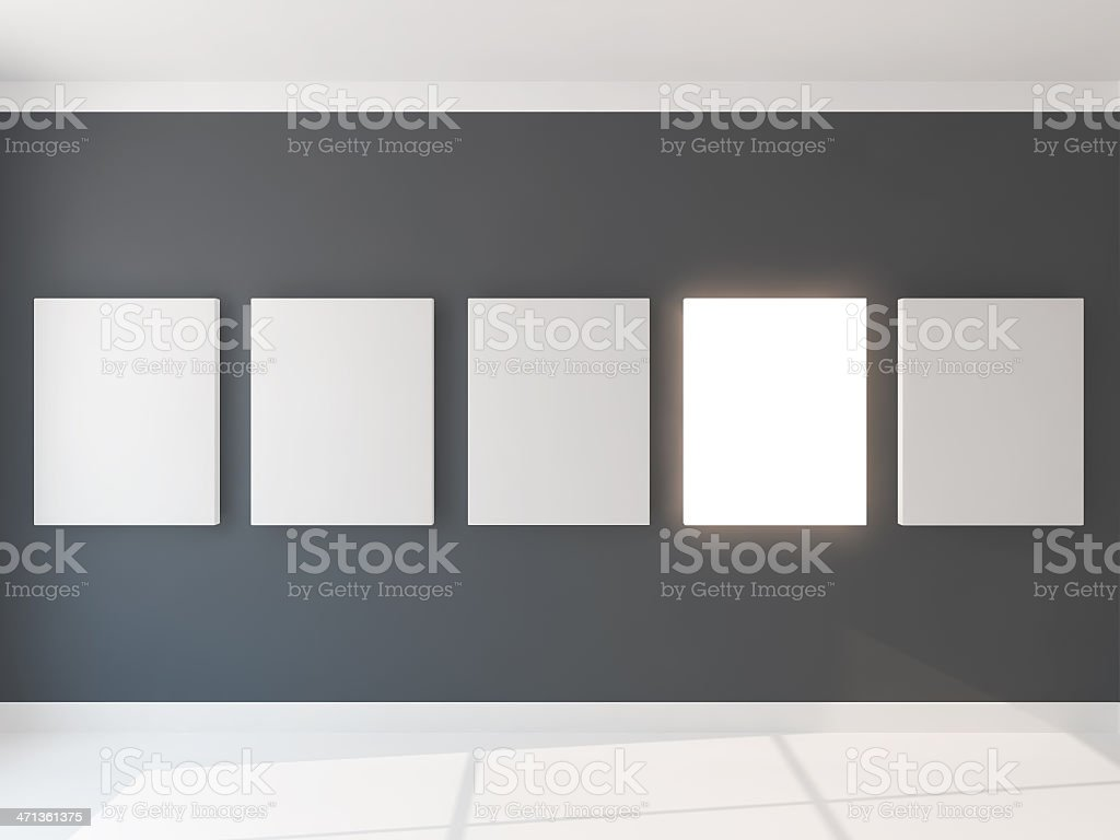 five light canvas royalty-free stock photo