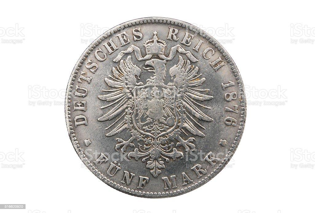 Five mark of Germany stock photo