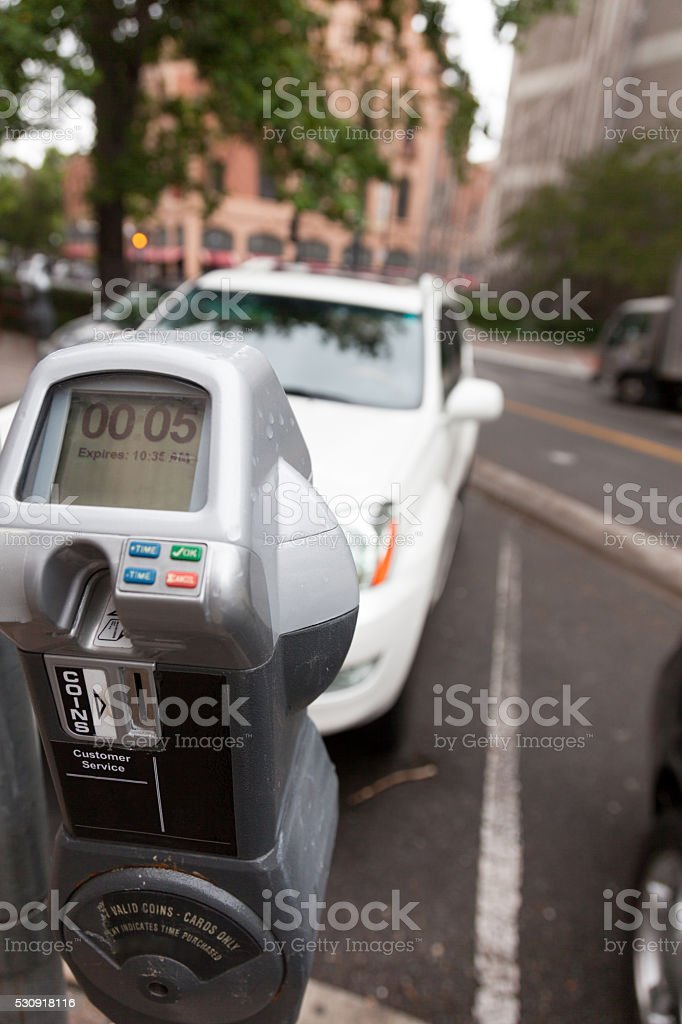 Five Minutes Parking stock photo