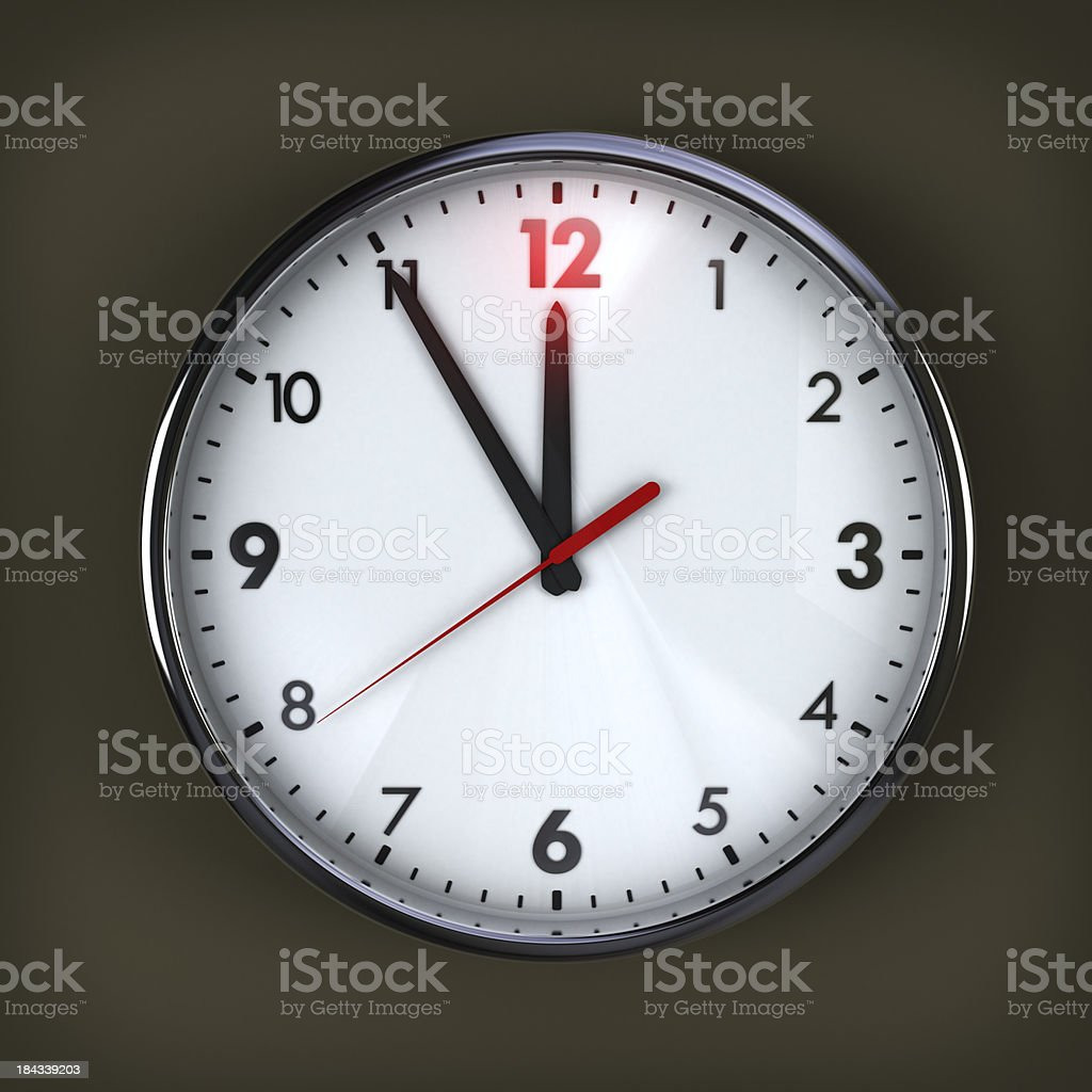 Five minutes to deadline! royalty-free stock photo