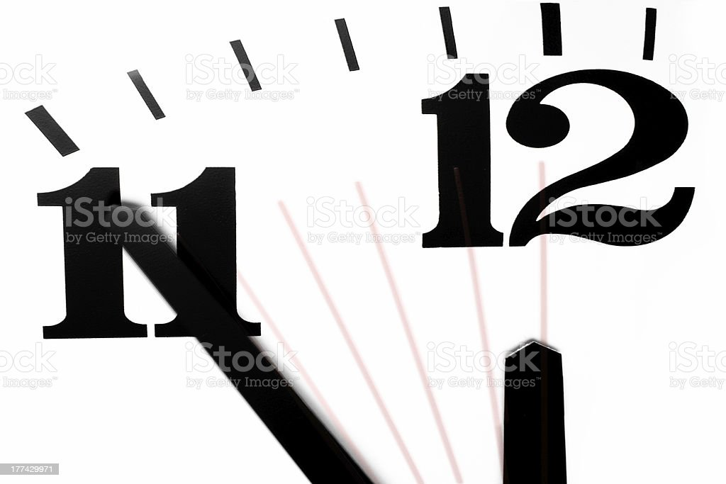 Five Minutes to Midnight royalty-free stock photo