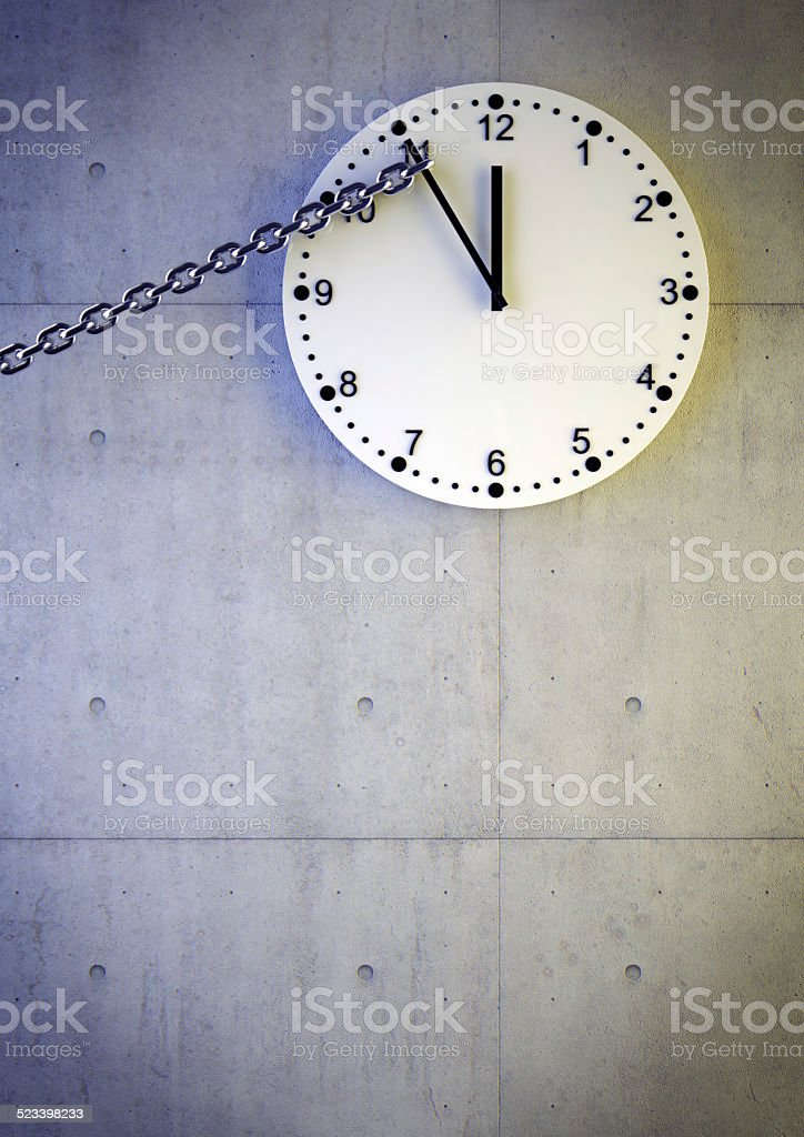 Five minutes to midnight stock photo