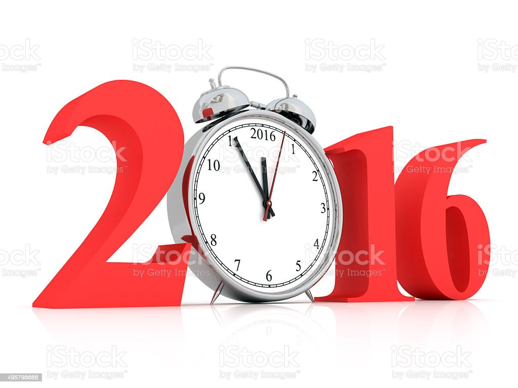 Five minutes to new year stock photo