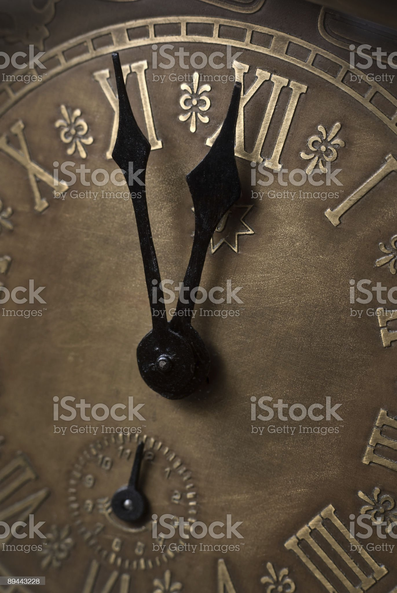 Five minutes to twelve. royalty-free stock photo