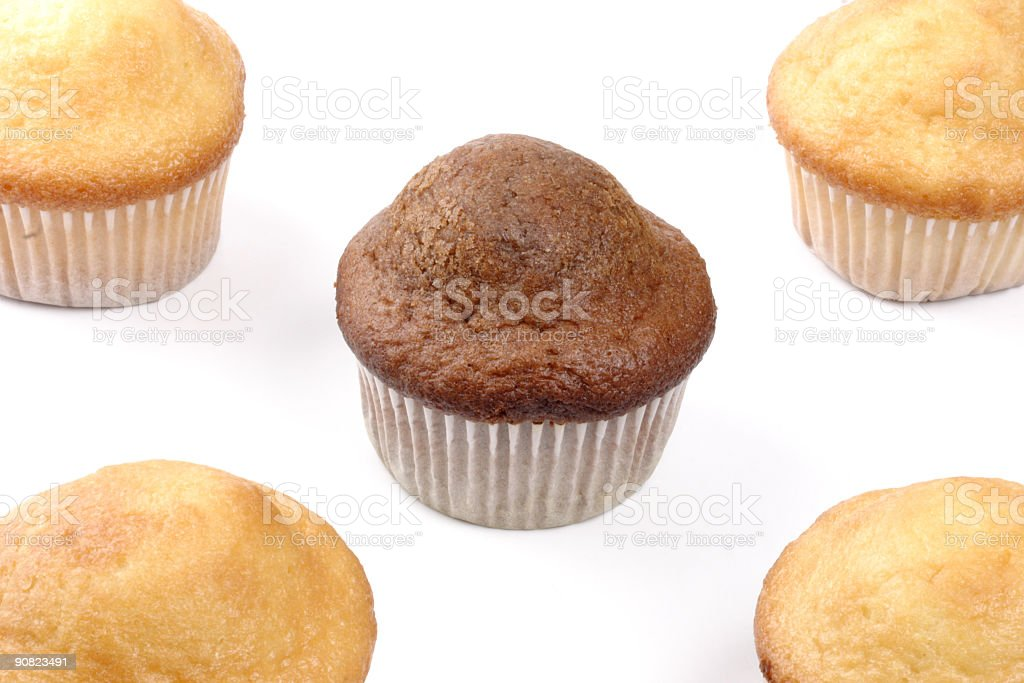 Five muffins royalty-free stock photo