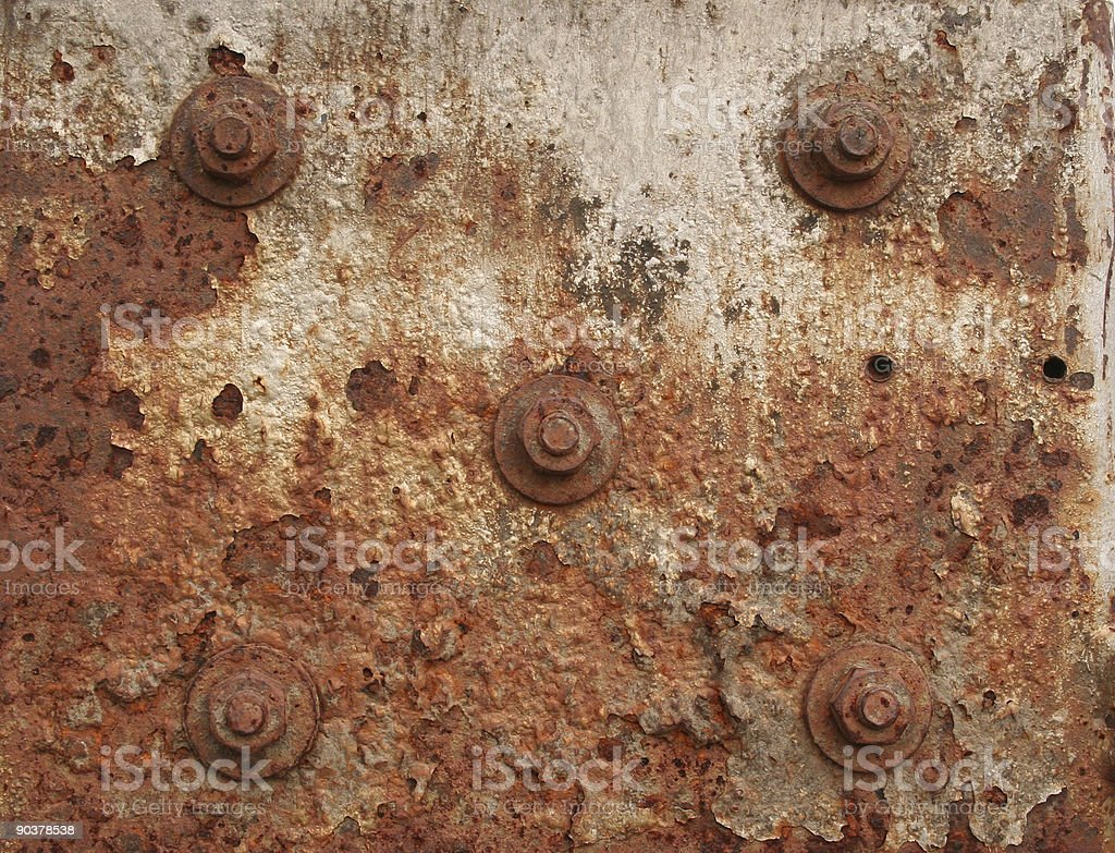 Five nuts and bolts stock photo