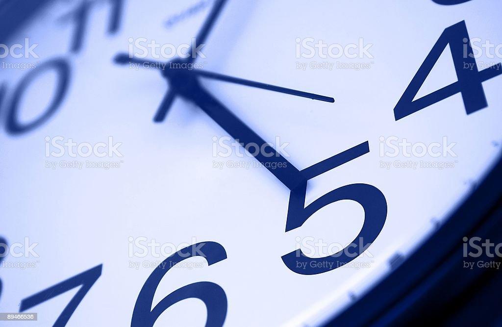 Five o'clock - blue stock photo