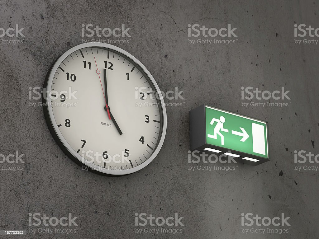 Five O'Clock Quitting Time stock photo