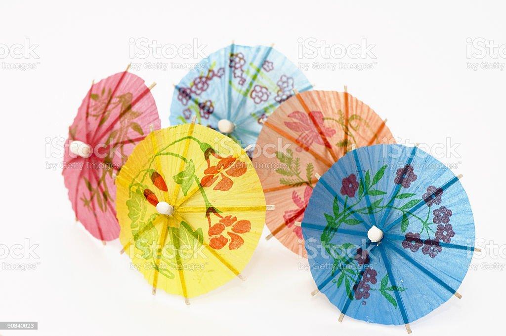 Five Party Umbrellas royalty-free stock photo
