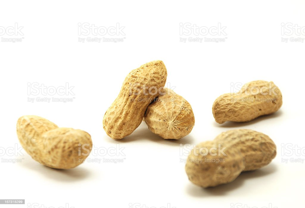 Five Peanuts In The Shell royalty-free stock photo