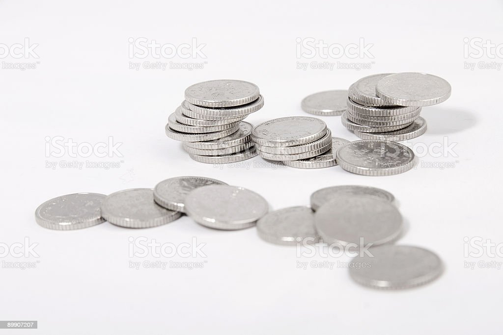 Five Pence coins royalty-free stock photo