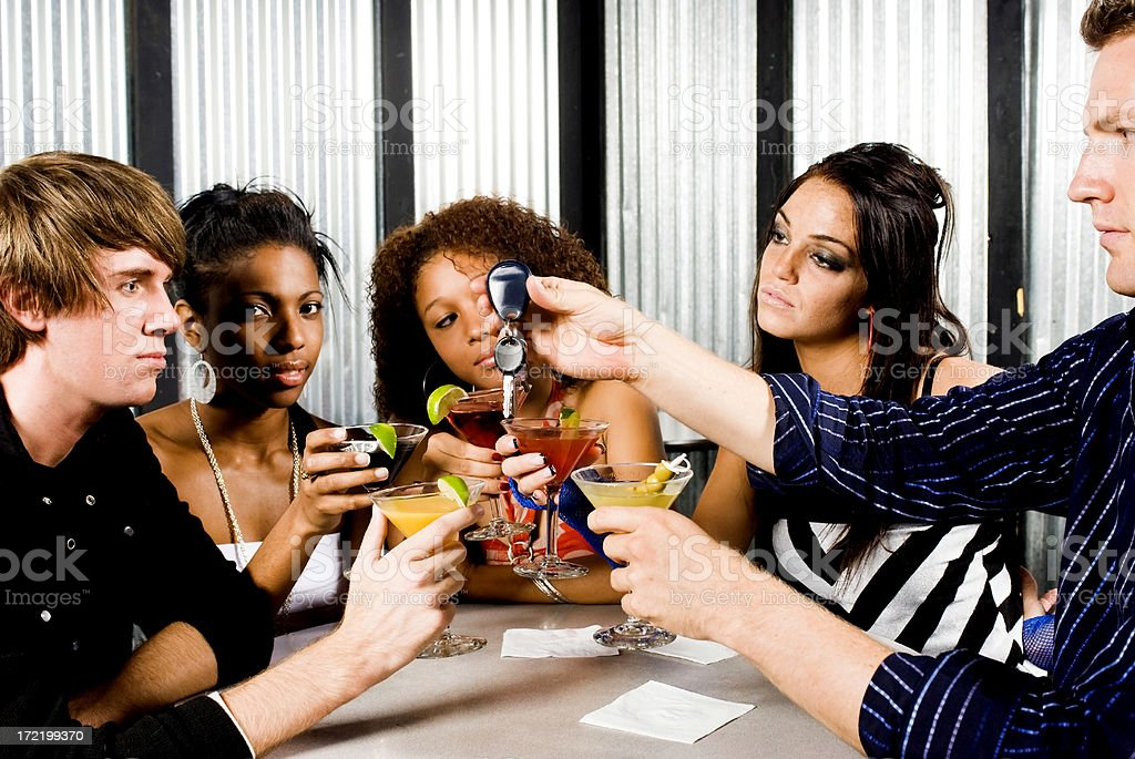 five people drinking royalty-free stock photo
