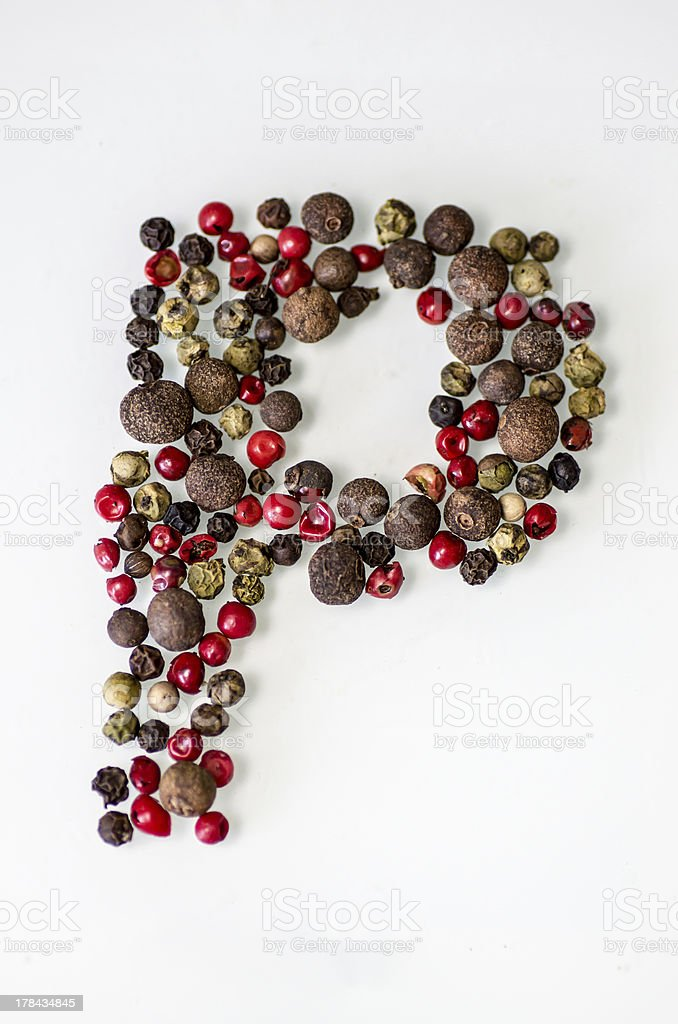 five pepper royalty-free stock photo