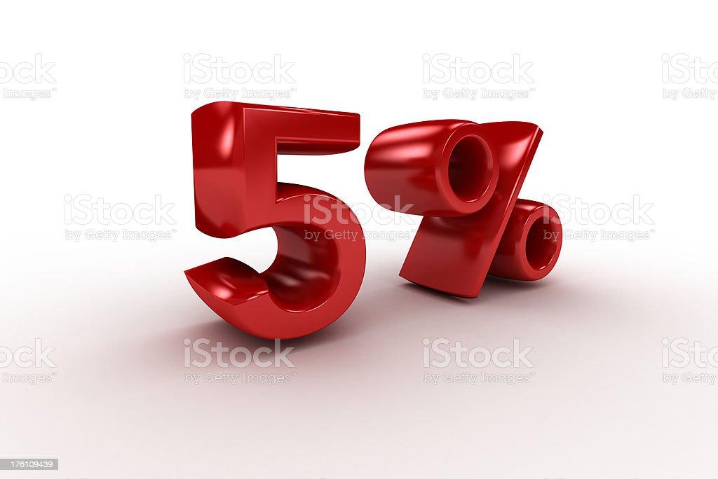 Five Percent royalty-free stock photo